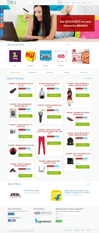Daily Deals and coupons website